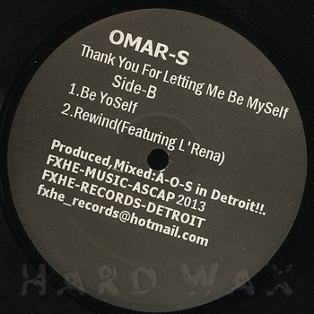 Cover art - Omar S: Thank You For Letting Me Be Myself - Part 1