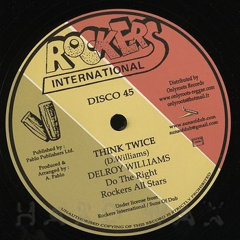 Cover art - Delroy Williams: Think Twice