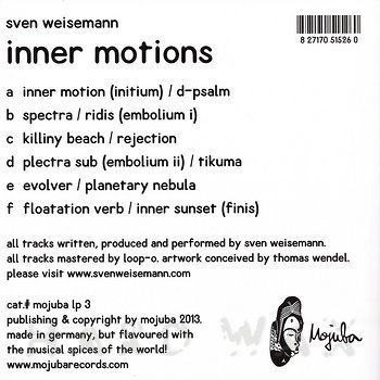 Cover art - Sven Weisemann: Inner Motions