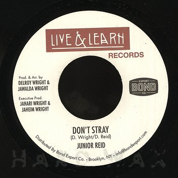 Cover art - Junior Reid: Don't Stray