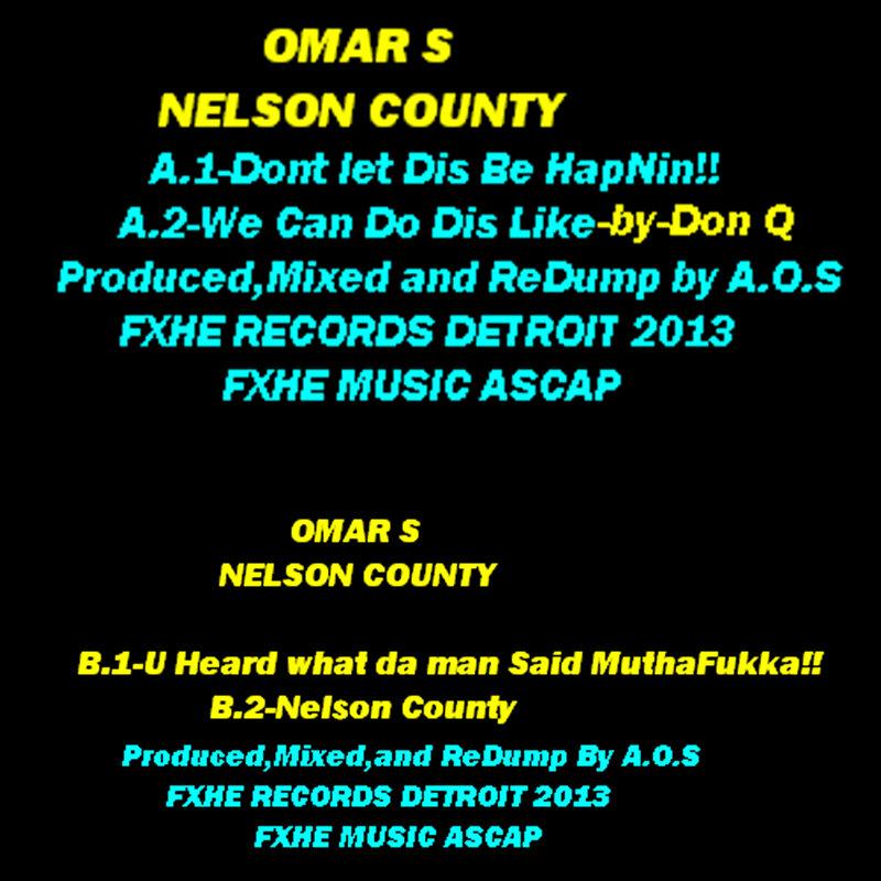 Cover art - Omar S: Nelson County