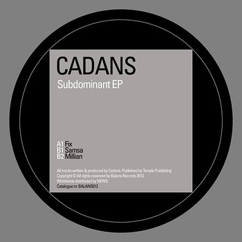 Cover art - Cadans: Subdominant EP