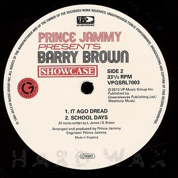 Cover art - Barry Brown: Showcase