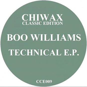 Cover art - Boo Williams: Technical EP