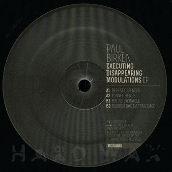 Cover art - Paul Birken: Executing Disappearing Modulations EP