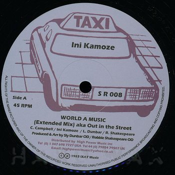 Cover art - Ini Kamoze: World A Music