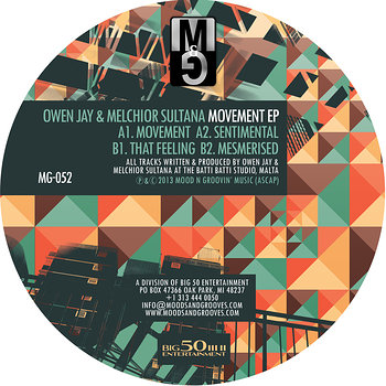 Cover art - Owen Jay & Melchior Sultana: Movement EP