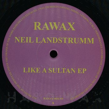 Cover art - Neil Landstrumm: Like A Sultan EP