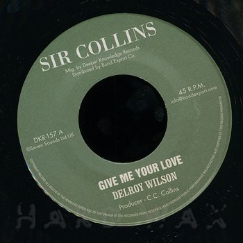 Cover art - Delroy Wilson: Give Me Your Love
