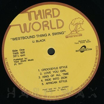 Cover art - U Black: Westbound Thing A Swing