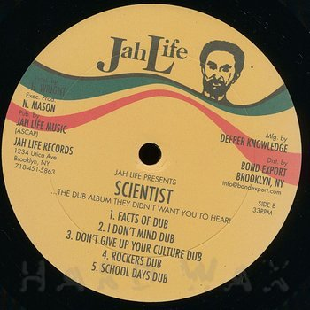 Cover art - Scientist: The Dub Album They Didn't Want You To Hear