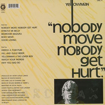 Cover art - Yellowman: Nobody Move Nobody Get Hurt
