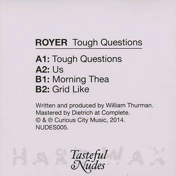 Cover art - Royer: Tough Questions EP