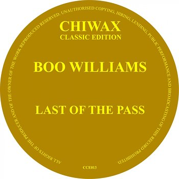 Cover art - Boo Williams: Last Of The Pass