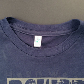 Cover art - Organic T-Shirt, Size S: Navy, gray print (negative)