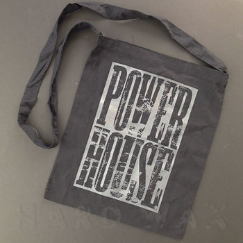 Cover art - Cotton Bag: Black, one handle, gray print (negative)