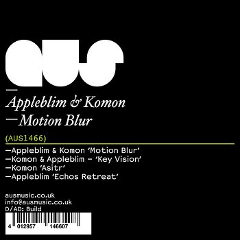 Cover art - Appleblim & Komon: Motion Blur