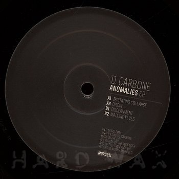 Cover art - D. Carbone: Anomalies EP