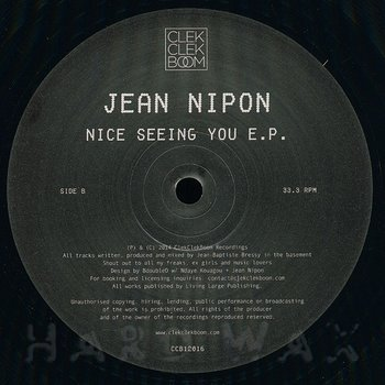 Cover art - Jean Nipon: Nice Seeing You EP