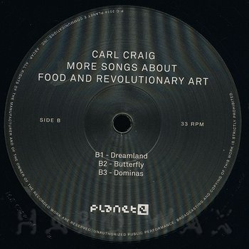 Cover art - Carl Craig: More Songs About Food And Revolutionary Art