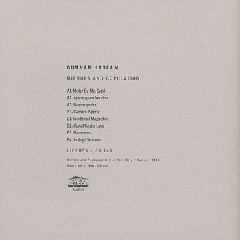 Cover art - Gunnar Haslam: Mirrors And Copulation