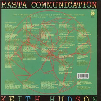 Cover art - Keith Hudson: Rasta Communication