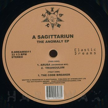 Cover art - A Sagittariun: The Anomaly EP
