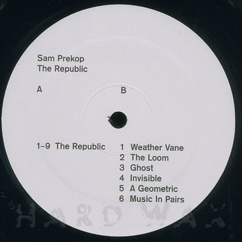 Cover art - Sam Prekop: The Republic