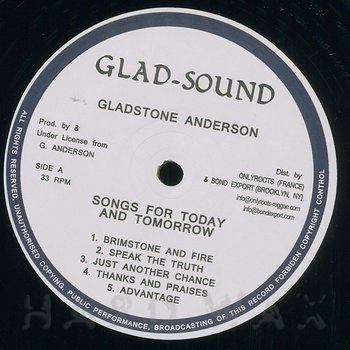 Cover art - Gladstone Anderson / Roots Radics: Sings Songs For Today and Tomorrow/Radical Dub Session