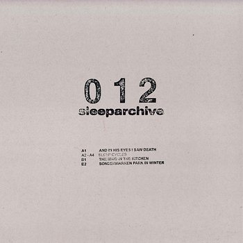 Cover art - Sleeparchive: And In His Eyes I Saw Death