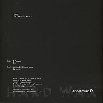 Cover art - Mace: Non Succede Niente