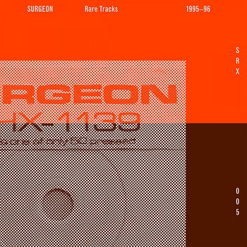 Cover art - Surgeon: Rare Tracks 1995-96