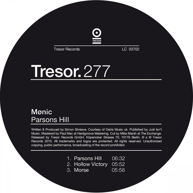 Cover art - Mønic: Parsons Hill EP