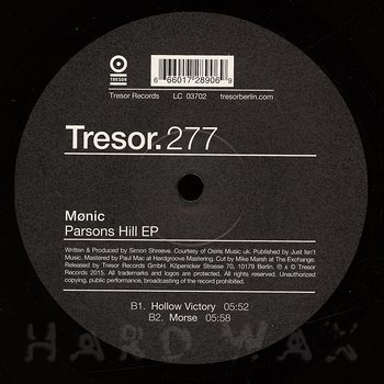 Cover art - Mønic: Parsons Hill EP