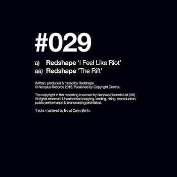 Cover art - Redshape: I Feel Like Riot