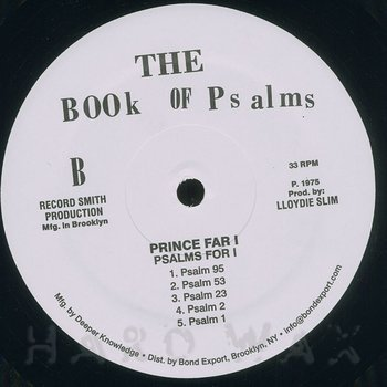 Cover art - Prince Far I: Psalms For I