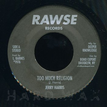 Cover art - Jerry Harris: Too Much Religion