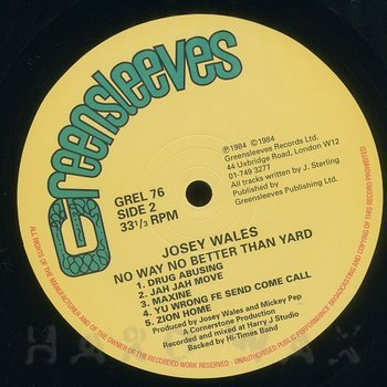 Cover art - Josey Wales: No Way No Better Than Yard