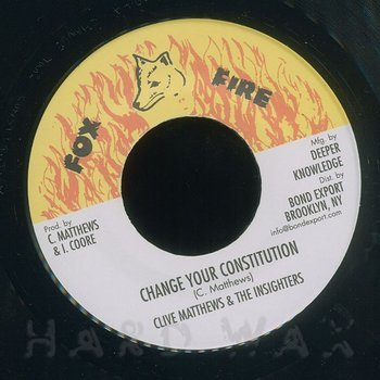 Cover art - Clive Matthews & The Insighters: Change Your Constitution