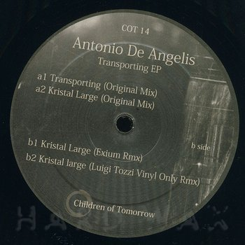 Cover art - Antonio De Angelis: Transporting EP