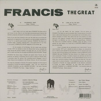 Cover art - Francis The Great: Ravissante Baby
