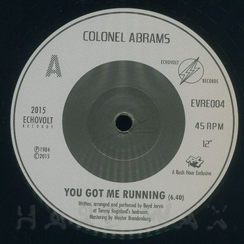 Cover art - Colonel Abrams: You Got Me Running