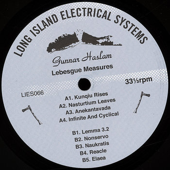 Cover art - Gunnar Haslam: Lebesgue Measures