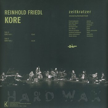 Cover art - Reinhold Friedl: Kore