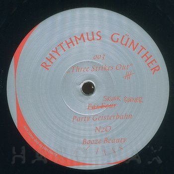Cover art - Rhythmus Günther: Three Strikes Out