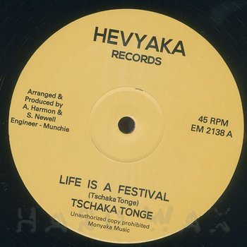 Cover art - Tschaka Tonge: Life Is A Festival