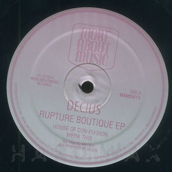 Cover art - Decius: Rupture Boutique EP