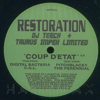 Cover art - DJ Teech & Taurus Impex Limited: Coup d'Etat EP