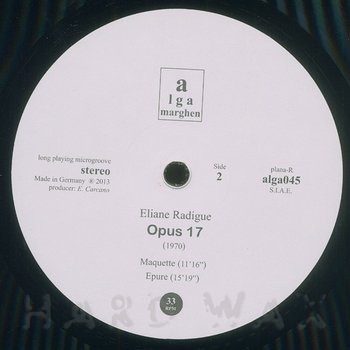 Cover art - Eliane Radigue: Opus 17