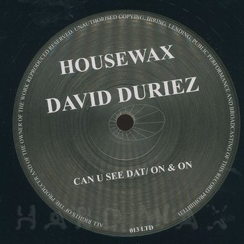 Cover art - David Duriez: Can U See Dat